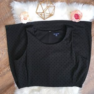 Gap All Black with Velvet Polka Dot Dress Size XXL